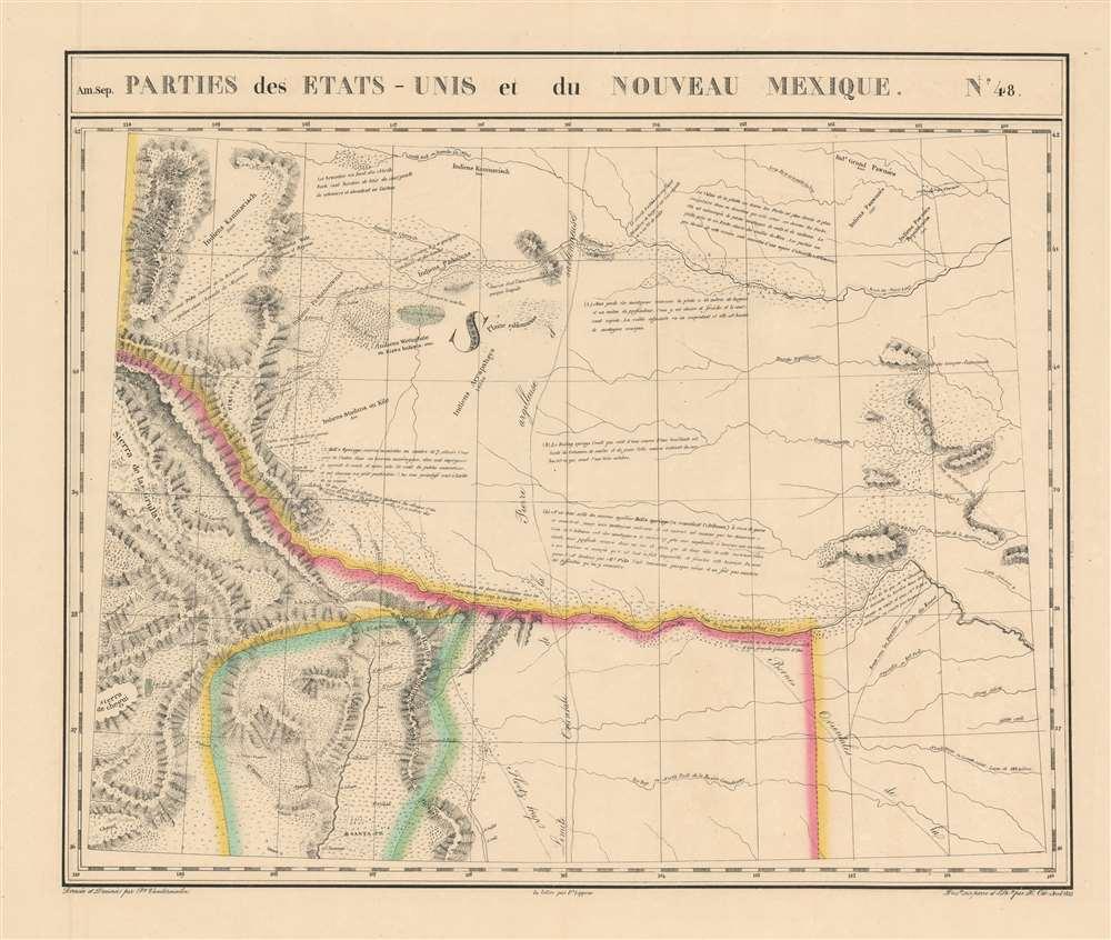 Parties des Etats-Unis et du Nouveau Mexique. Amer. Sep. no. 48.