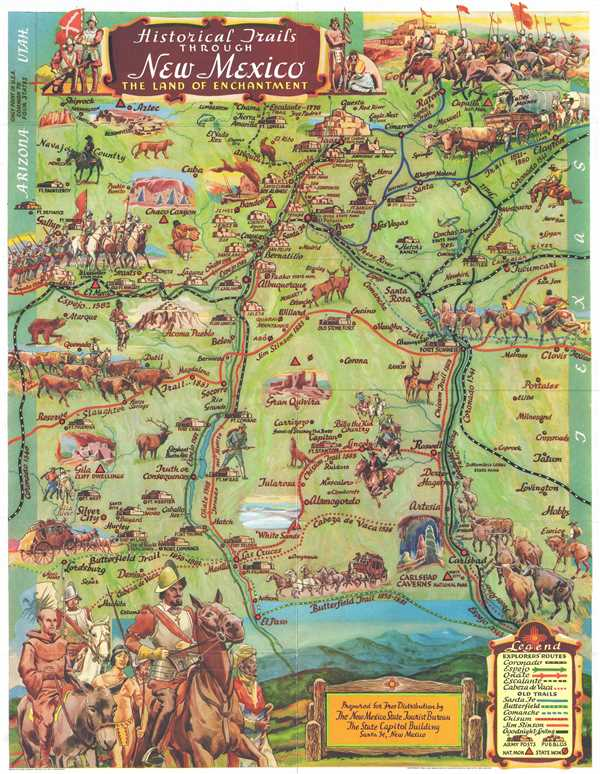 Historical Trails Through New Mexico The Land of Enchantment. - Main View