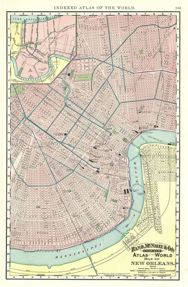 Map of New Orleans.