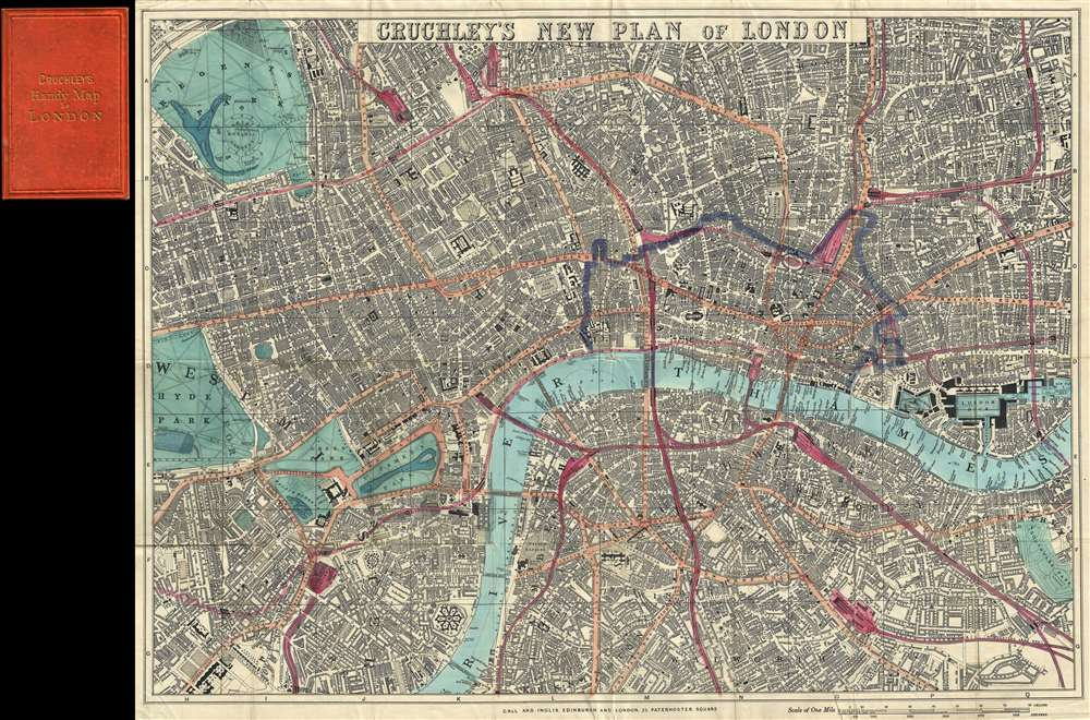 Cruchley's New Plan of London. - Main View