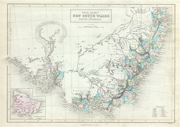 Part of Australia comprising the settled portions of New South Wales and South Australia. - Main View