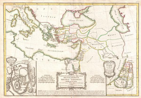 Carte des Regions et des Lieux dont il est parle dans le Nouveau Testament.