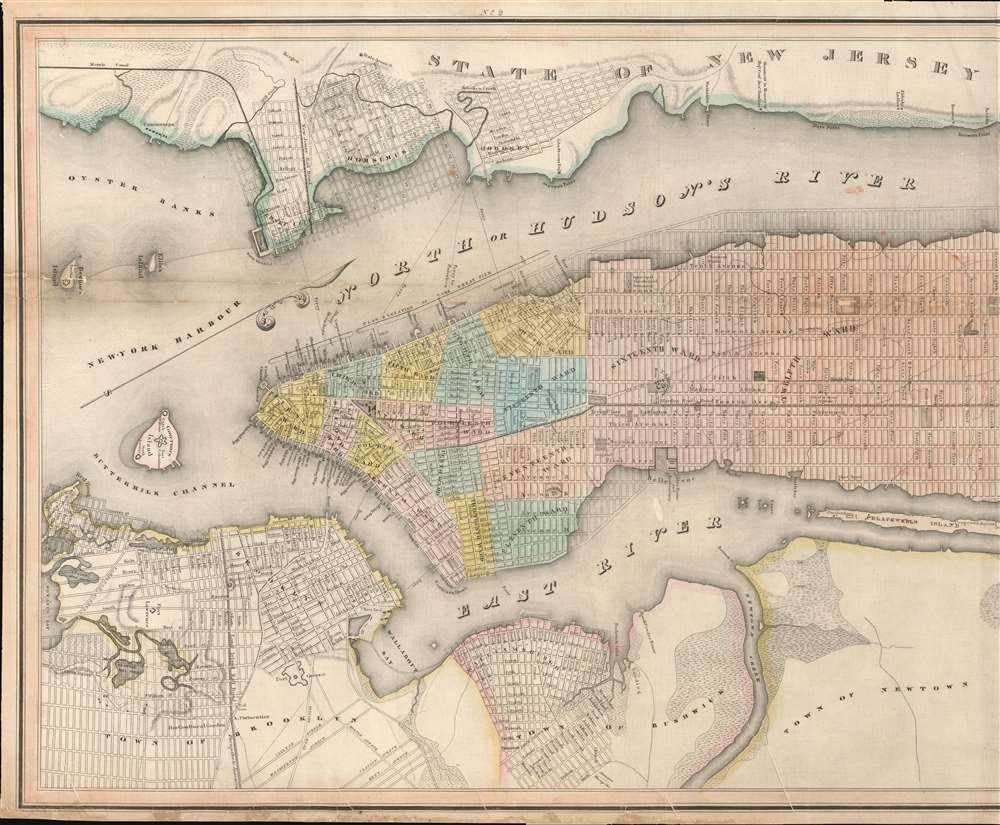 Map of the City and County of New York, with the adjacent country. - Alternate View 1