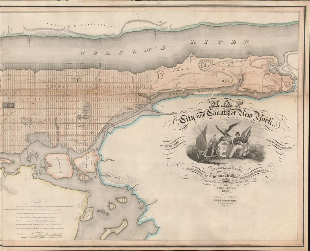 Map of the City and County of New York, with the adjacent country. - Alternate View 2