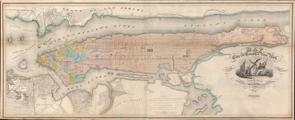 Map of the City and County of New York, with the adjacent country. - Main View