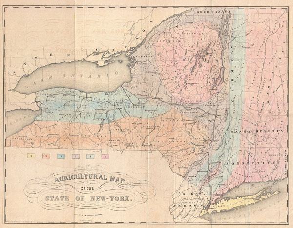 Agricultural Map Of The State Of NewYork Geographicus Rare - Map of state of new york