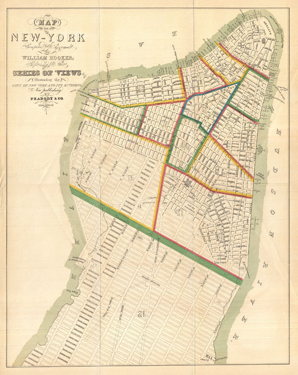 Map of the City of New-York Compiled & Surveyed by William Hooker.
