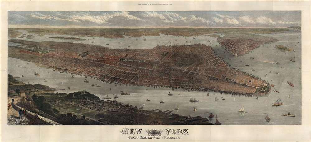 New York from Bergen Hill Hoboken. - Main View