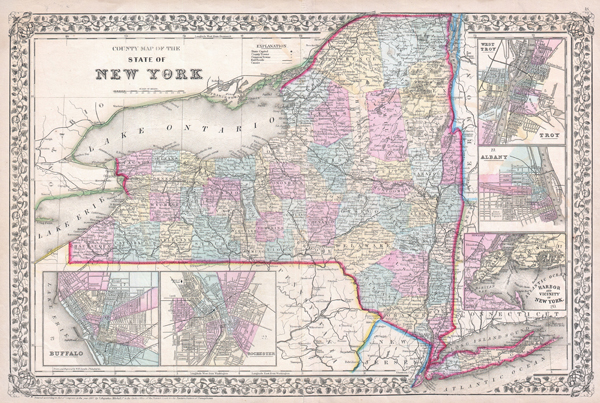 County Map of the State of New York. - Main View