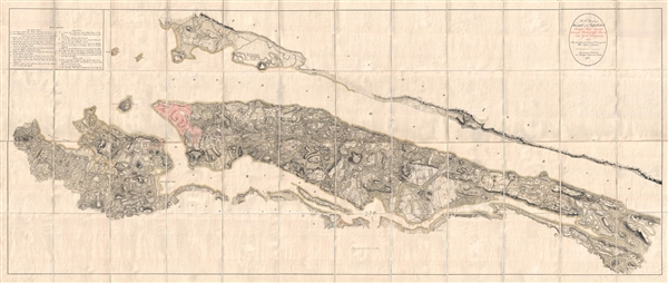 B. F. . Stevens's Facsimile of the Unpublished British Head Quarters Colored Manuscript Map of New York & Environs (1782) Reproduced from the Original Drawing in the War Office, London.