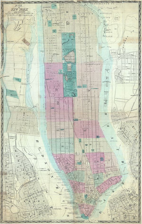 Map of New York and Vicinity. - Main View