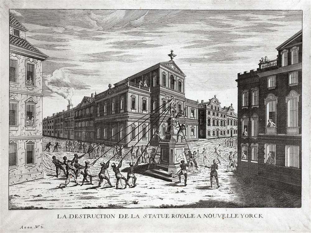 La Destruction de la Statue Royale a Nouvelle Yorck - Main View