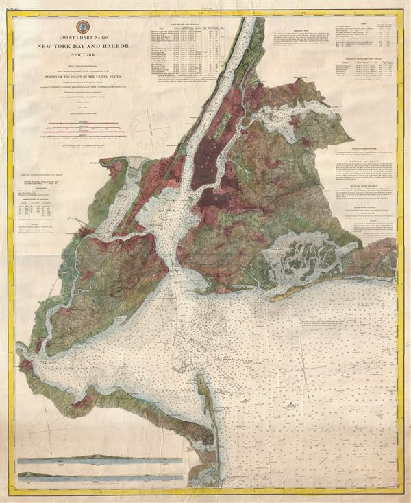 Coast Chart No. 120 New York Bay and Harbor New York. - Main View