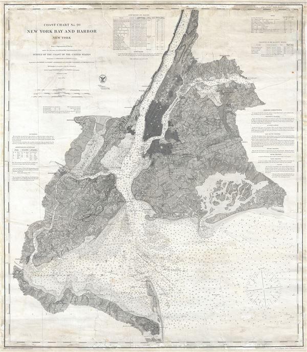 Coast Chart No. 20 New York Bay and Harbor New York.