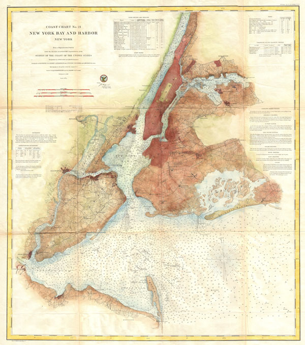 Coast Chart No. 21, New York Bay and Harbor, New York