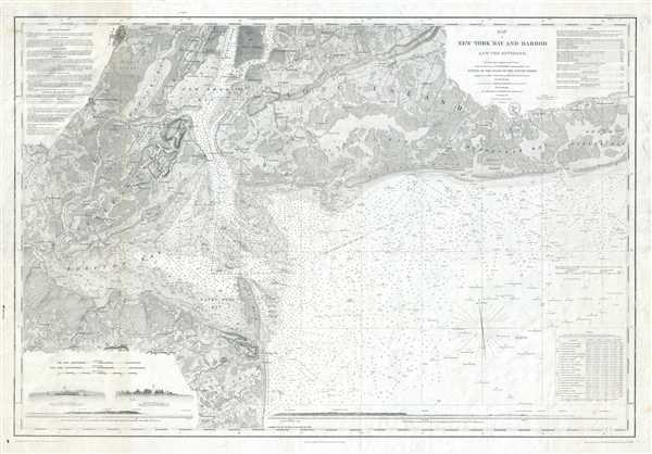 Map of New-York Bay and Harbor and the Environs. - Main View