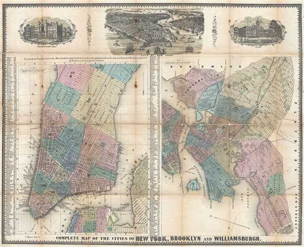 Complete Map of the Cities of New York, Brooklyn and Williamsburgh.