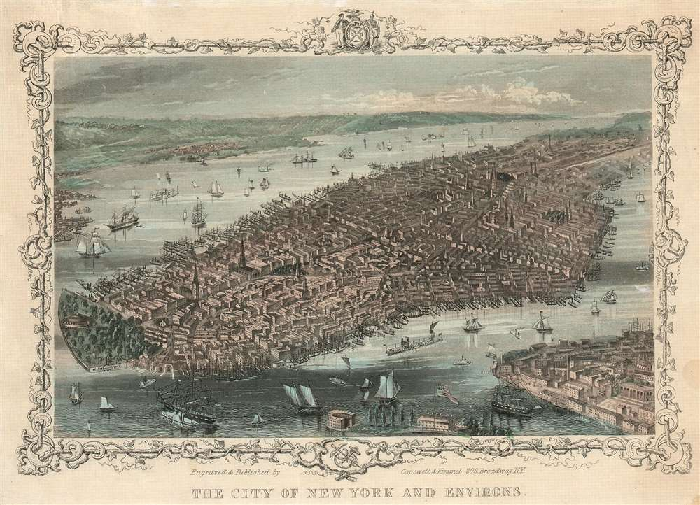 The City of New York and Environs. - Main View