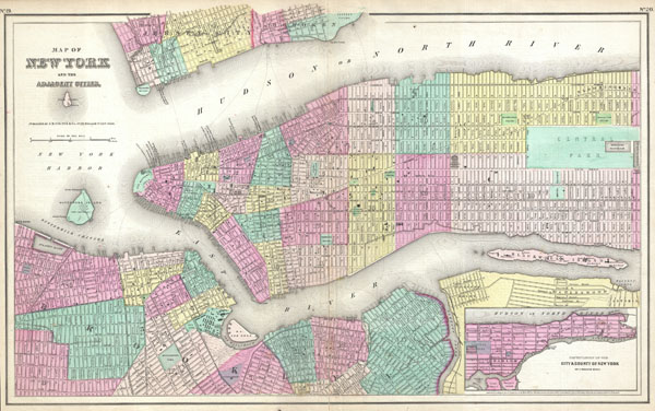 Map of New York and the Adjacent Cities. - Main View