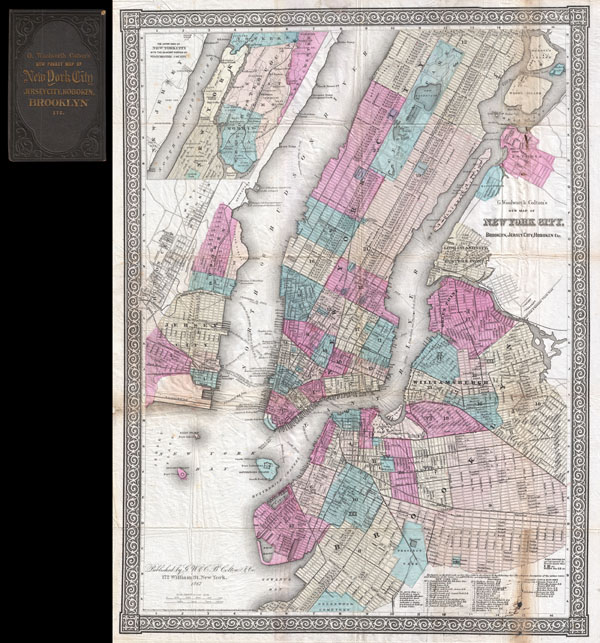 G. Woolworth Colton's New Map of New York City, Brooklyn, Jersey City, Hoboken, Etc.