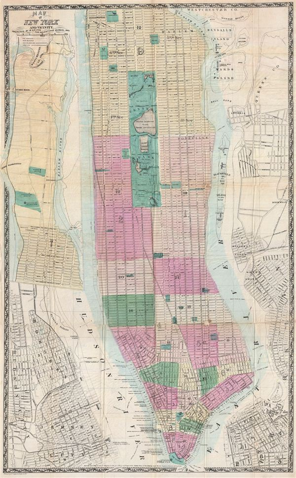 Map Of New York And Vicinity Geographicus Rare Antique Maps - Antique maps nyc