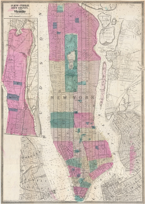 New-York City County, and Vicinity.