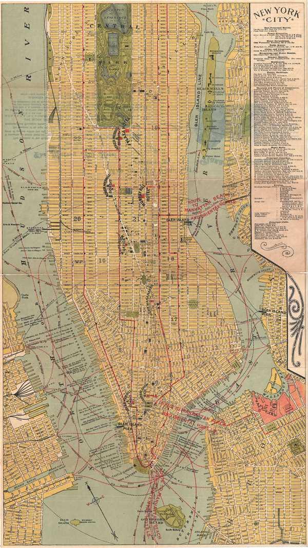 1920 Hammond Plan or Map of New York City