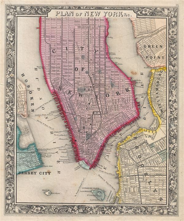 Plan of New York & c. - Main View