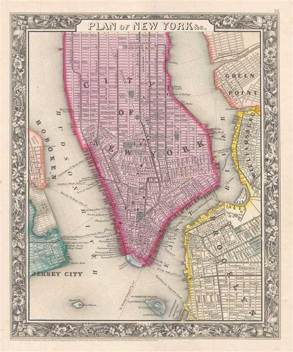 Plan of New York etc. - Main View