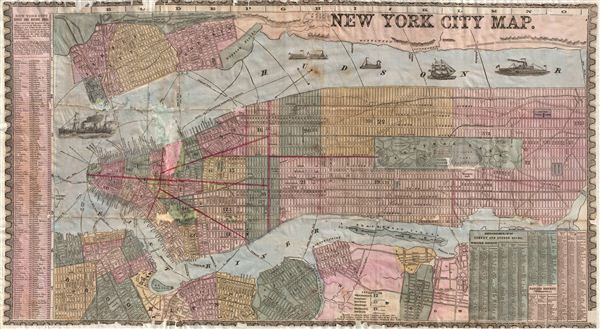New York City Map Geographicus Rare Antique Maps - Antique maps nyc