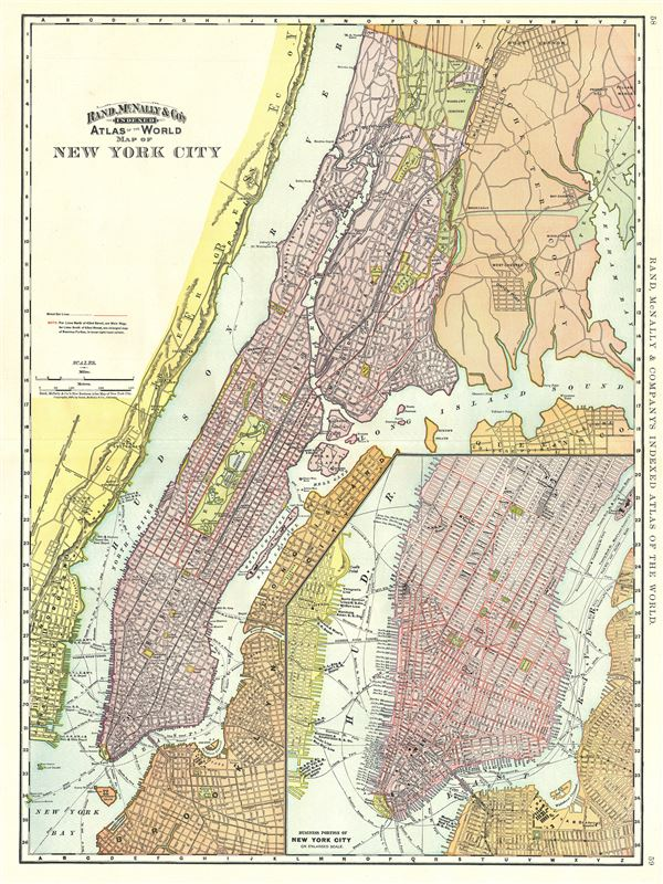 Map Of New York City Geographicus Rare Antique Maps - Antique maps nyc