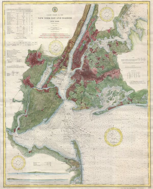 Coast Chart No. 120, New York Bay and Harbor, New York.