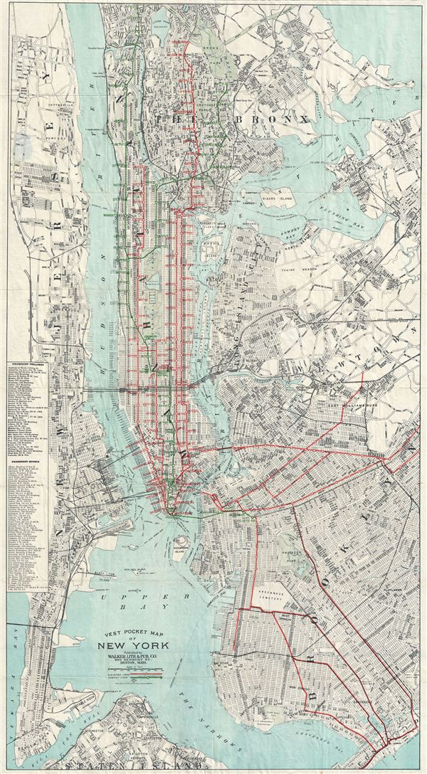 Vest Pocket Map Of New York Geographicus Rare Antique Maps - Antique maps nyc