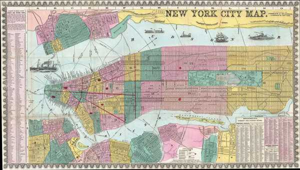 New York City Map. - Main View
