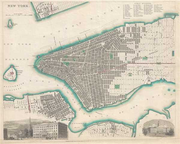 1840  S.D.U.K. Map of New York City