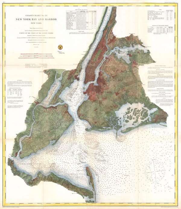 Coast Chart No. 20, New York Bay and Harbor, New York. - Main View