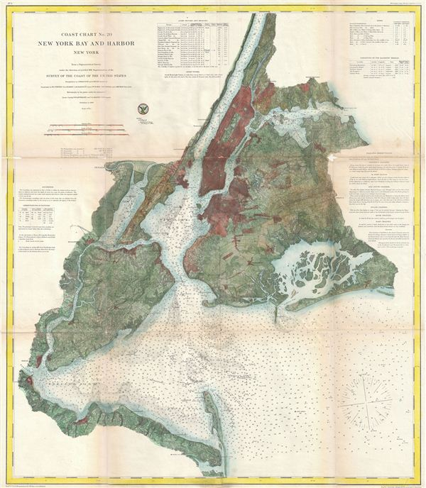 Coast Chart No. 20, New York Bay and Harbor, New York.