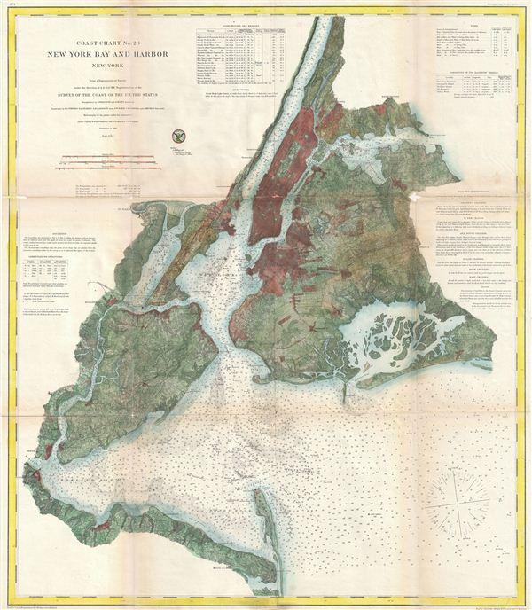 Coast Chart No. 20, New York Bay and Harbor, New York. - Main View