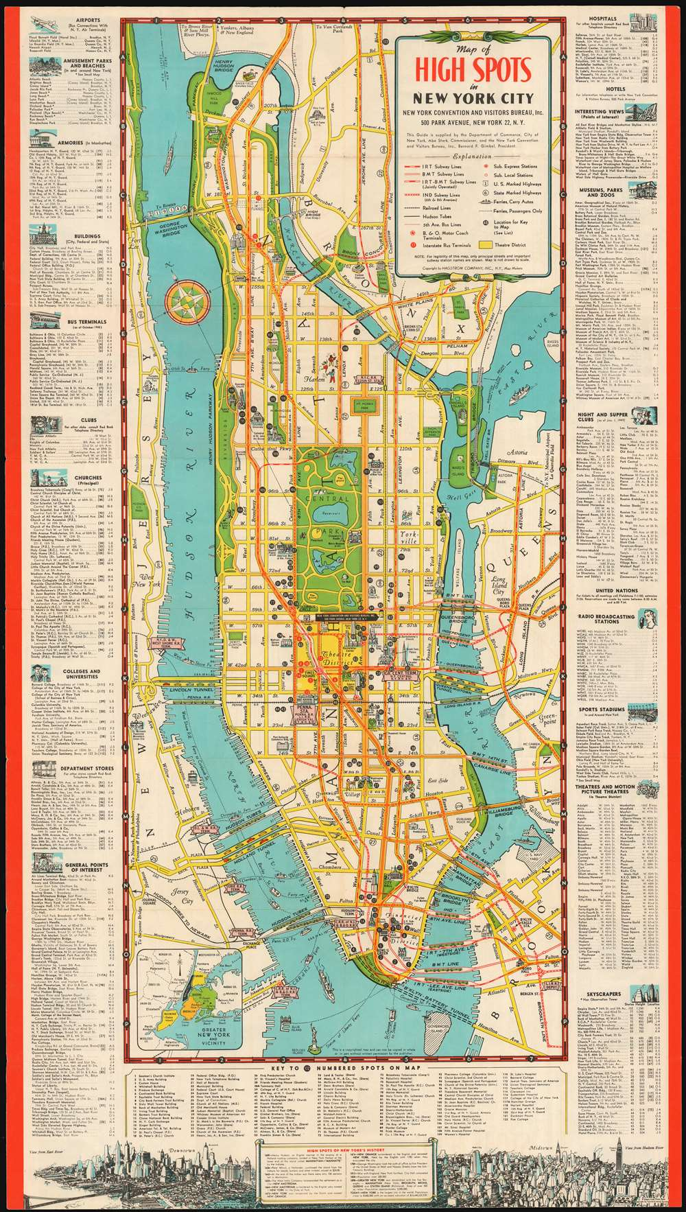 Map Of High Spots In New York City Geographicus Rare Antique Maps