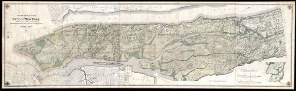 Topographical Atlas of the City of New York including the Annexed Territory, Showing original water courses and made land.