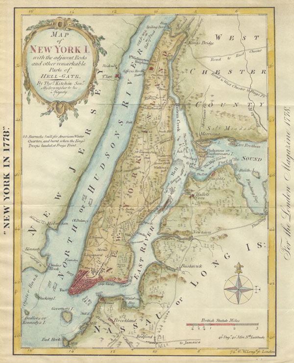 New York in 1778 or Map of New York I.