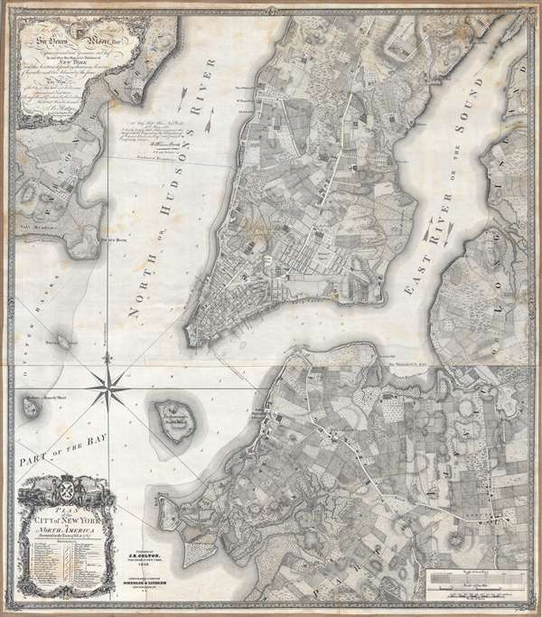Plan of the city of New York in North America : surveyed in the years 1766 and 1767.