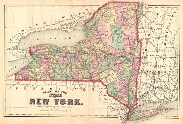 Plan of the State of New York Drawn and Engraved Especially for this Atlas - Main View