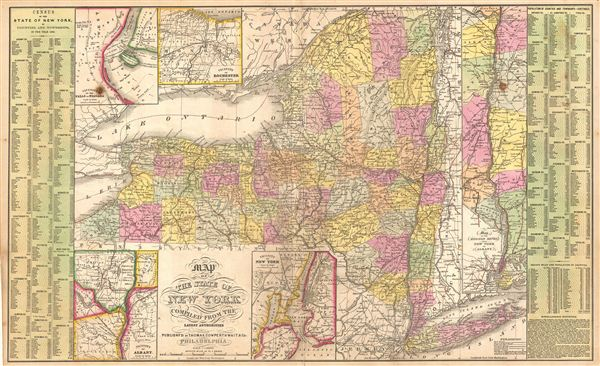 Map of the State of New York compiled from the Latest Authorities. - Main View