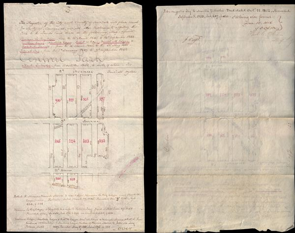 [Cadastral Survey of Upper West Side between 85th and 89th Streets]