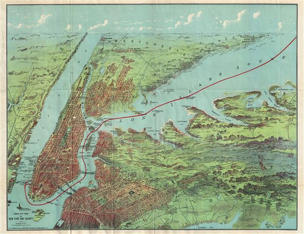 Birds Eye View of New York and Vicinity. - Main View
