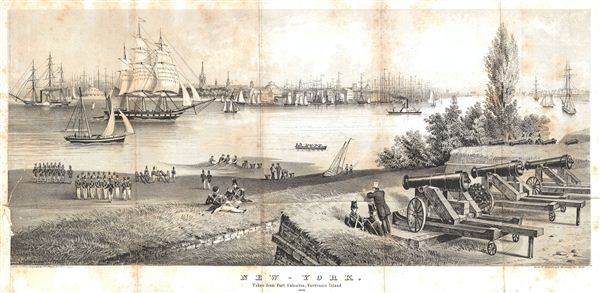 New-York. Taken from Fort Columbus, Governors Island. 1816.