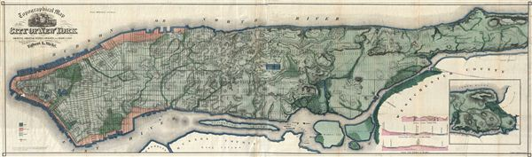 Topographical Map of the City of New York Showing Original Water Courses and Made Land.
