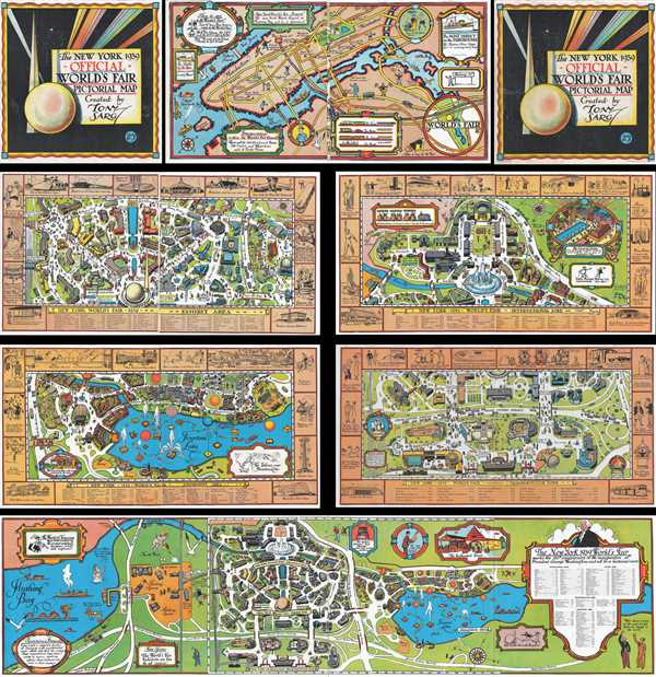 The New York 1939 Official World's Fair Pictorial Map. - Main View