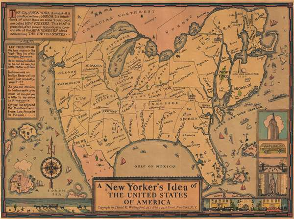 A New Yorker's Idea of The United States of America - Main View